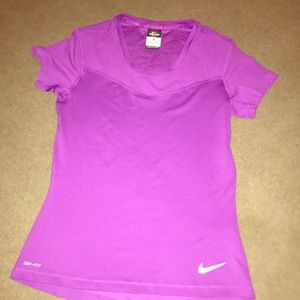 Women's Nike dri fit breathable top
